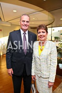 Photo by Tony Powell. Ben & Quinn Bradlee book party. The Washington Post Offices. June 7, 2010. General Jim Jones and Diane Jones