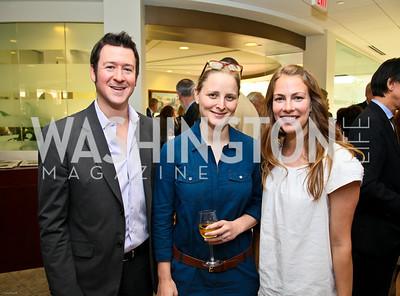 Photo by Tony Powell. Ben & Quinn Bradlee book party. The Washington Post Offices. June 7, 2010. Jeff Himmelman, Katharine Zaleski, Kirsten Lodal