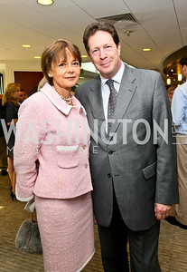Photo by Tony Powell. Ben & Quinn Bradlee book party. The Washington Post Offices. June 7, 2010. Lady Julia Sheinwald and English Ambassador Sir Nigel Sheinwald