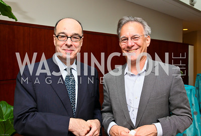 Photo by Tony Powell. Ben & Quinn Bradlee book party. The Washington Post Offices. June 7, 2010. Jerry Rosberg, David Ignatius