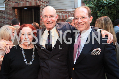Florence Haseltine, Eric Haseltine, William Haseltine. Book party for Eric Haseltine hosted by Arturo and Hilda Brillembourg. Photos by Alfredo Flores