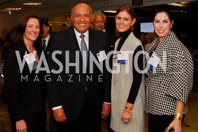 Pam King Sams, Sameh Shoukry, Mae Grennan, Amy Baier, CNMC Egyptian Embassy Reception, November 15, 2010, Kyle Samperton