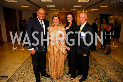 Sameh Shoukry, Suzy Shoukry, Pam King Sams, Peter Holbrook, CNMC Egyptian Embassy Reception, November 15, 2010, Kyle Samperton