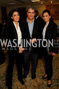 Rouzita Vahhabaghai, John Petro, Bila Vahhabaghai, CNMC Egyptian Embassy Reception, November 15, 2010, Kyle Samperton
