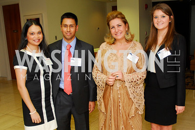 Indira Sharma, Heman Sharma, Suzy Shoukry, Kate Raber, CNMC Egyptian Embassy Reception, November 15, 2010, Kyle Samperton