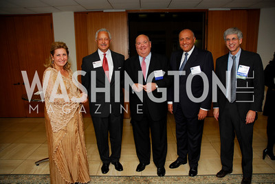 Suzy Shoukry, Robert Malson, Andrew Blair, Sameh Shoukry, Mark Batshaw, CNMC Egyptian Embassy Reception, November 15, 2010, Kyle Samperton