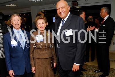 Morton Funger, Norma Funger, Sameh Shoukry, CNMC Egyptian Embassy Reception, November 15, 2010, Kyle Samperton