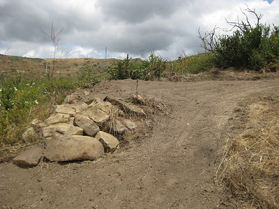 Existing rocks were left in place as an alternate line.