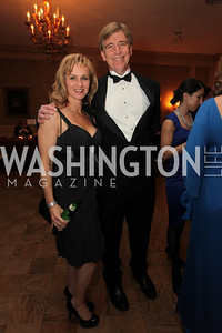 Ivan Eland, Alicia O'Brien. 2009 Capital City Ball. The Washington Club. November 21, 2009. Photos by Samantha Strauss.