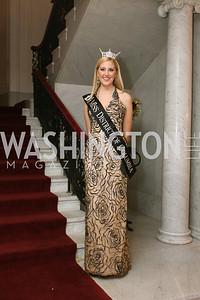 Miss District of Columbia Jen Corey. 2009 Capital City Ball. The Washington Club. November 21, 2009. Photos by Samantha Strauss.