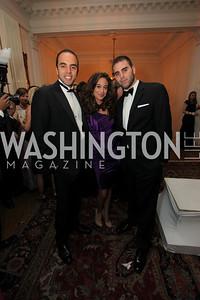 Erika Gutierrez, Josh Hedaya, Ashraf Fawzy. 2009 Capital City Ball. The Washington Club. November 21, 2009. Photos by Samantha Strauss.