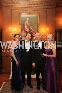 Hosts Pamela Brehm, Brue Fries, John Dunford, Tanya Sabel. 2009 Capital City Ball. The Washington Club. November 21, 2009. Photos by Samantha Strauss.