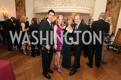 Zmar Khan, Ashton Kunkle, Terri Galvez, Michael Cleary. 2009 Capital City Ball. The Washington Club. November 21, 2009. Photos by Samantha Strauss.