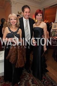 Oksana Krvitsky, Violetta Rabin, Gary Maslan. 2009 Capital City Ball. The Washington Club. November 21, 2009. Photos by Samantha Strauss.