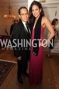 Miguel Toulier, Jessica Clark. 2009 Capital City Ball. The Washington Club. November 21, 2009. Photos by Samantha Strauss.