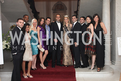 Miss District of Columbia Jen Corey and friends. 2009 Capital City Ball. The Washington Club. November 21, 2009. Photos by Samantha Strauss.