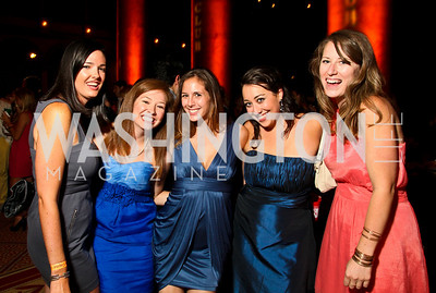 Photo by Tony Powell. Kelly Laphen, Katherine Jones, Rachael McClure, Samantha Tucker, Barbara Patterson. Capital Club's 18th Annual Sinatra Soiree. Building Museum. July 15, 2010