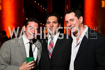 Photo by Tony Powell. Jason Sickels, Cyrus Zolghadri, Matt Schwartz. Capital Club's 18th Annual Sinatra Soiree. Building Museum. July 15, 2010