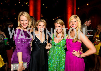 Photo by Tony Powell. Lindley Thornburg, Lauren Freedman, Lacy Quarles, Josie Taylor. Capital Club's 18th Annual Sinatra Soiree. Building Museum. July 15, 2010