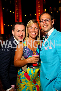 Photo by Tony Powell. TJ Maguire, Tara Mahoney, Brent Keuch. Capital Club's 18th Annual Sinatra Soiree. Building Museum. July 15, 2010