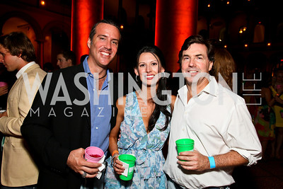 Photo by Tony Powell. Aleco Bravo, Ashley Lucas, Bobby Schwartz. Capital Club's 18th Annual Sinatra Soiree. Building Museum. July 15, 2010