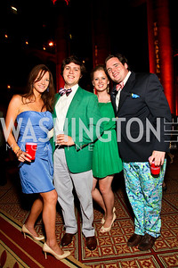 Photo by Tony Powell. Shannon Flaherty, Philip Maxwel, Lauren Pickering, David Frash. Capital Club's 18th Annual Sinatra Soiree. Building Museum. July 15, 2010