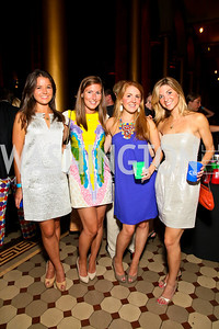 Photo by Tony Powell. Zoe Bibb, Megan Hood, Whitney Knouse, Blair Stevens. Capital Club's 18th Annual Sinatra Soiree. Building Museum. July 15, 2010