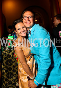 Photo by Tony Powell. ABC-7's Courtney Robinson, Brent Keuch. Capital Club's 18th Annual Sinatra Soiree. Building Museum. July 15, 2010