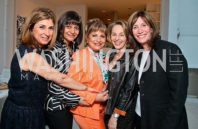 "Photo by Tony Powell. Cartier event announcing the 2010 Joan Hisaoka ""Make a Difference"" Gala. Levinas residence. May 20, 2010. Fariba Jahanbani, Shamim Jawad, Annie Totah, Mirella Levinas, Deborah Epstein"