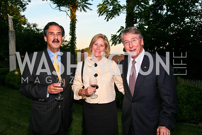 "Photo by Tony Powell. Cartier event announcing the 2010 Joan Hisaoka ""Make a Difference"" Gala. Levinas residence. May 20, 2010. Jacques deSuze, Stacey and Kevin Reynolds"