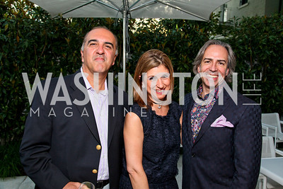"Photo by Tony Powell. Cartier event announcing the 2010 Joan Hisaoka ""Make a Difference"" Gala. Levinas residence. May 20, 2010. Reza and Fariba Jahanbani, Ernesto Santalla"