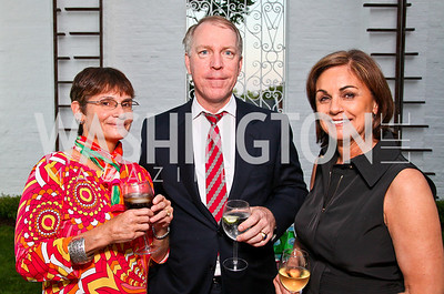 "Photo by Tony Powell. Cartier event announcing the 2010 Joan Hisaoka ""Make a Difference"" Gala. Levinas residence. May 20, 2010. Naomi and Michael Quigley, Marie Schram"