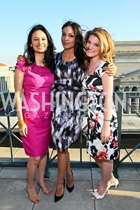 Maria Teresa Kumar, Rosario Dawson, Danielle Loewy. Photo by Tony Powell. Celebrating Diverse Voices in Media. Equihua Residence. April 30, 2010