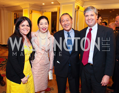 Izette Folger, Yoriko Fujisaki, Japanese Ambassador Ichiro Fujisaki, Neil Folger. CSPC Annual Awards Dinner. April 8, 2010. Photo by Tony Powell