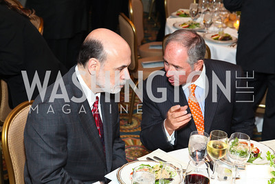 Ben Bernanke, Stephen Schwarzman. CSPC Annual Awards Dinner. April 8, 2010. Photo by Tony Powell