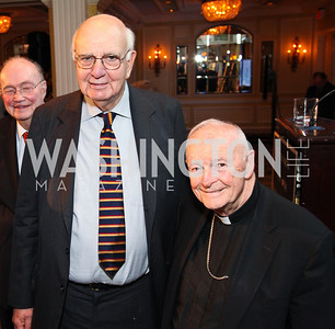 The Honorable Paul Volcker, Cardinal Theodore McCarrick. CSPC Annual Awards Dinner. April 8, 2010. Photo by Tony Powell