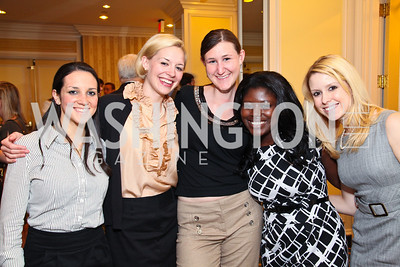 Sarah Neuman, Emily Bradley, Beth Valentine, Sarah Ofusu, Jadzia Butler. CSPC Annual Awards Dinner. April 8, 2010. Photo by Tony Powell