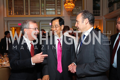 Panamanian Ambassador Jaime Aleman, Korean Ambassador Han, Duk-soo, Mexican Ambassador Arturo Sarukhan. CSPC Annual Awards Dinner. April 8, 2010. Photo by Tony Powell