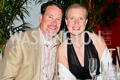 Photo by Tony Powell. Charity Works 100 point Wine Dinner. Ramsey residence. May 22, 2010. Chris and Talley Fulghum