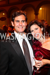 Photo by Tony Powell. Peter and Leslie Berk. Charity Works Dream Ball. National Building Museum. October 2, 2010