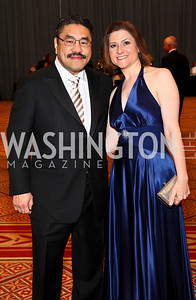 Photo by Tony Powell. Robert and Paula Hisaoka. Charity Works Dream Ball. National Building Museum. October 2, 2010