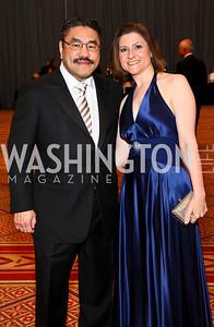 Photo by Tony Powell. Robert and Paula Hisaoka. Charity Works Dream Ball. National Building Museum. October 2, 2010
