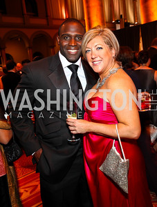 Photo by Tony Powell. Shawn Springs, Lynni Megginson. Charity Works Dream Ball. National Building Museum. October 2, 2010