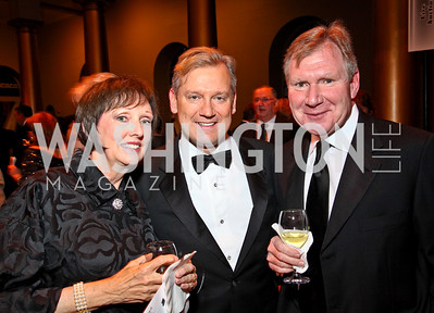 Photo by Tony Powell. Pam Hanlon, Mark McFadden, Richard Hanlon. Charity Works Dream Ball. National Building Museum. October 2, 2010