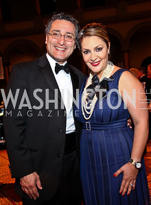 Photo by Tony Powell. Shahab and Micky Farivar. Charity Works Dream Ball. National Building Museum. October 2, 2010