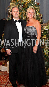 Photo by Tony Powell. Michael and Iris Vass. Charity Works Dream Ball. National Building Museum. October 2, 2010