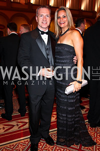 Photo by Tony Powell. Greg Bedor, Gabriella Dalmolin. Charity Works Dream Ball. National Building Museum. October 2, 2010