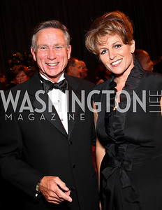 Photo by Tony Powell. Andy Viola, Neva Lent. Charity Works Dream Ball. National Building Museum. October 2, 2010