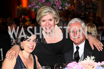 Photo by Tony Powell. Christine Dunn, Leah and Jack Gansler. Charity Works Dream Ball. National Building Museum. October 2, 2010