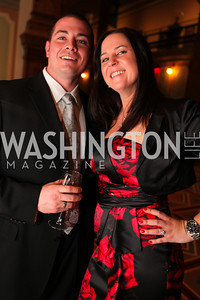 Dan Pastor, Kara Pastor.  A Night at the Museum Chas Schwartz & Son celebrate Beaudry. Photos by Alfredo Flores.